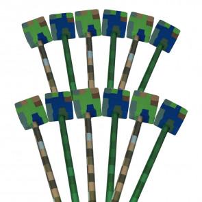 Kids Pencils | Pixel Eraser Topper Camouflage HB Pencils