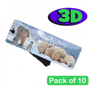 3D Bookmarks | Stunning Polar Bears Design For Party Bags & Class Gifts