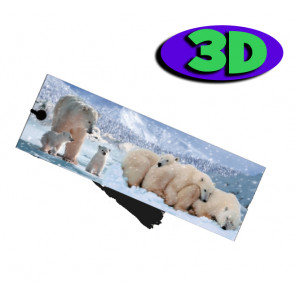 3D Bookmarks | Polar Bears Bookmark For Party Bags & Class Gifts