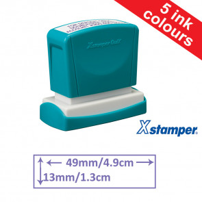 Custom Stamps | Quix Self-inking, Reinkable Xstamper 13x49mm