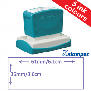 Custom Stamps | Quix Self-inking, Reinkable Xstamper 36x61mm