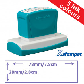 Custom Stamps | Quix Self-inking, Reinkable Xstamper 28x78mm.