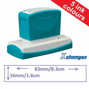 Custom Stamps | Quix Self-inking, Reinkable Xstamper 16 x 83mm