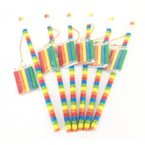 Class Gifts | 6 x Rainbow Pencils with Mini Colouring Pack
