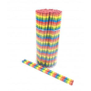 Class Gifts | Rainbow Stripes HB Pencils x 72