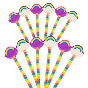 Class Gift | Rainbow Pencils with Large Eraser Ends