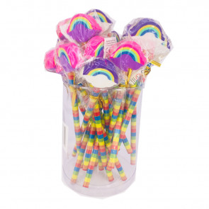 Class Gift | Value Tub Rainbow Pencils with Large Eraser Ends