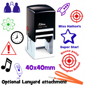 Custom Stamps | Large 40mm Round / Square Personalised Stamp