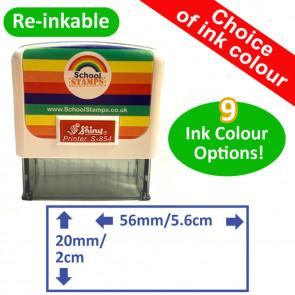 Custom Stamps   Rectangle Self-inking Custom Stamp - 56 x 20mm