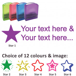 Custom Stamps | Star Stamp - Rectangle Teacher Stamps Personalised
