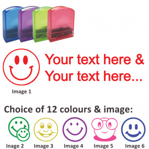 Custom Stamps   Smiley Face Stamp - Rectangle Teacher Stamps Personalised