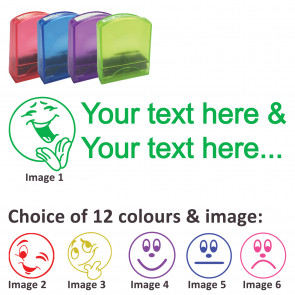 Custom Stamps   Emoji Expressions Stamp - Rectangle Teacher Stamps Personalised