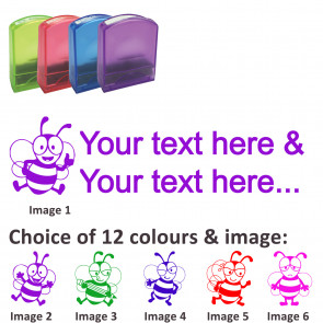 Custom Stamps   Bee Friends Stamp - Rectangle Teacher Stamps Personalised