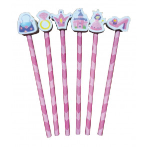 End of Term Gifts | Princess Pencils with Eraser Topper Ends