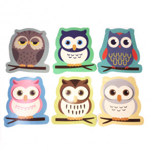 Class Gifts | Mini, Value, Shaped Cute Owl Notepads x 12.
