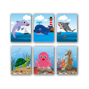 Class Gifts / Bag Fillers | 12 x Small Cute Sealife Kids Notepads
