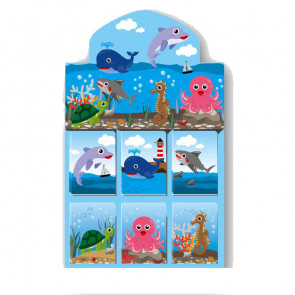 Bulk Stationery | 48 x Small Cute Sealife Kids Notepads. Retail Presentation Box