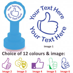 Custom Stamps   Thumbs Up Stamps - Personalised Craft and Teacher Stamps