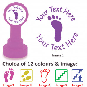 Custom Stamps   Footprint / Steps Images for Next Steps Stamps - Personalised Craft and Teacher Stamps