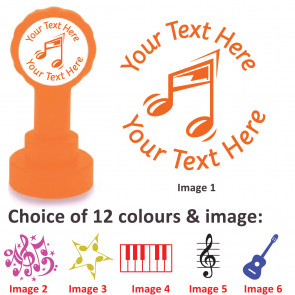 Custom Stamps   Music Design Personalised Craft and Teacher Stamps