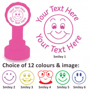 Custom Stamps | Smiley Stamp - Personalised Craft Stamps and Teacher Stamps