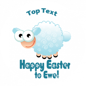 Personalised School Stickers | Happy Easter to Ewe!! Design Custom Standard and Scented Stickers