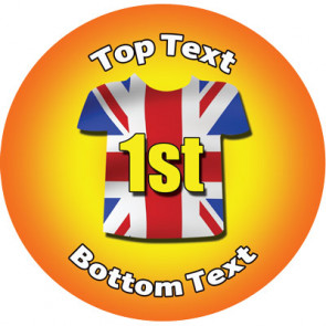 Personalised Stickers for Kids | Union Jack, Sports First for School Sports Days