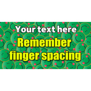 Personalised School Stickers | Remember finger spacing! Design Custom Standard Stickers