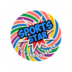 Custom School Stickers | Sports Day - Sports Star Sticker for All Participants