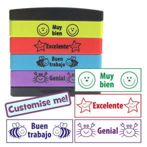 Teacher Stamps | Spanish 4-in-1 Self-Inking Stamp Stack (Stakz) / Multistamp