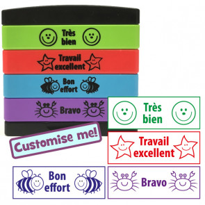 Teacher Stamp | French 4-in-1 Self-Inking Stamp Stack / Multistamp (Stakz)