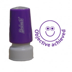 School Stamps | Objective Achieved Self-Inking Teacher Marking 18mm Stamp
