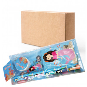 Class Gifts / Party Bags | Mystical Mermaids Stationery Filled Pencil Case. Bulk Stationery