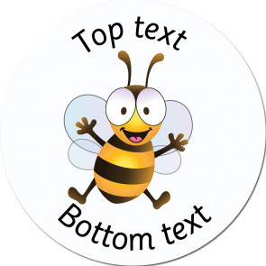 Personalised School Stickers | Happy Bee - Bee Friends Standard or Scented Stickers