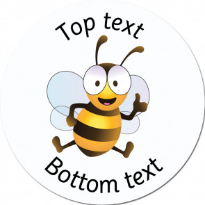 Personalised School Stickers | Thumbs Up Bee - Bee Friends Standard or Scented Stickers