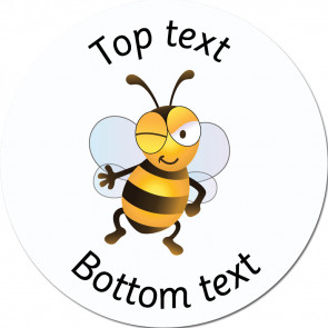 Personalised School Stickers | Winking - Bee Friends Standard or Scented Stickers