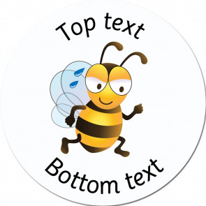 Personalised School Stickers | Busy Bee - Bee Friends Standard or Scented Stickers