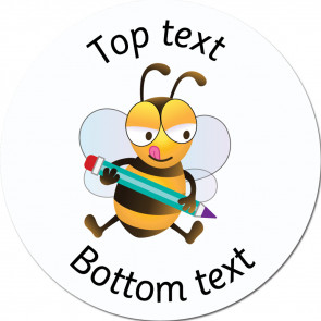 Personalised School Stickers | Writing Bee - Bee Friends Standard or Scented Stickers