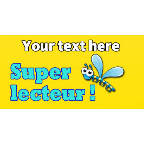 Personalised School Stickers | Super lecteur ! French Marking! Design Custom Standard Stickers