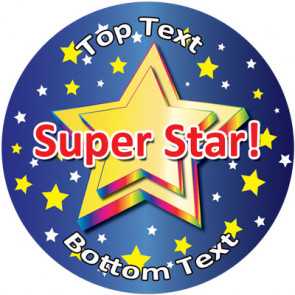 Personalised School Stickers | Super Star! Design Custom Standard and Scented Stickers
