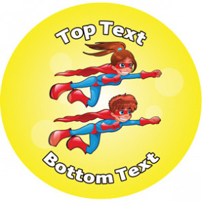 Personalised School Stickers | Superheroes! Design Custom Standard and Scented Stickers
