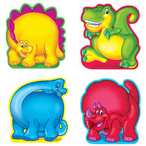 Classroom Display Resources   Variety Small Dinosaur Accent Cards