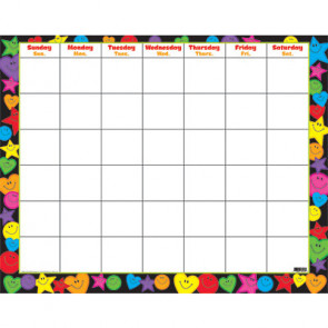 Wall Monthly Calendar | Hearts, Smiles & Stars Design