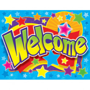 School Posters   Welcome (Stars Design)