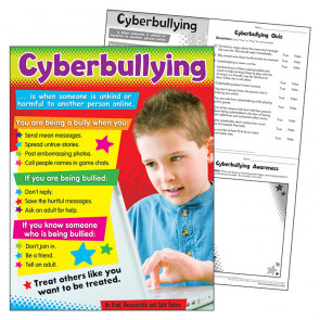 School Poster | Cyberbulling - staying safe online poster