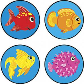 Teacher Reward Stickers | Fun Fish - Mini Size Stickers for Children