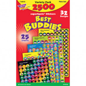 Kids Stickers | Best Buddies School Stickers. 2500 Mini Stickers Value Pack