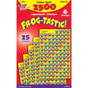 Childrens Stickers | 2500 Frog-tastic Mini Reward Stickers for School