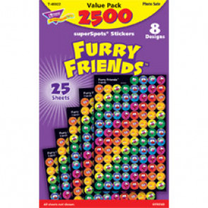 Childrens Stickers | 2500 Furry Friends Monsters Mini Stickers