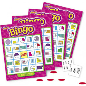 School Games   Fraction Maths Bingo for 3-36 Players